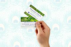 PEACOCKS PERCH LIQUOR STORE BUSINESS CARDS