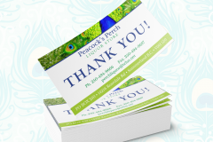 PEACOCKS PERCH LIQUOR STORE THANK YOU POST CARD