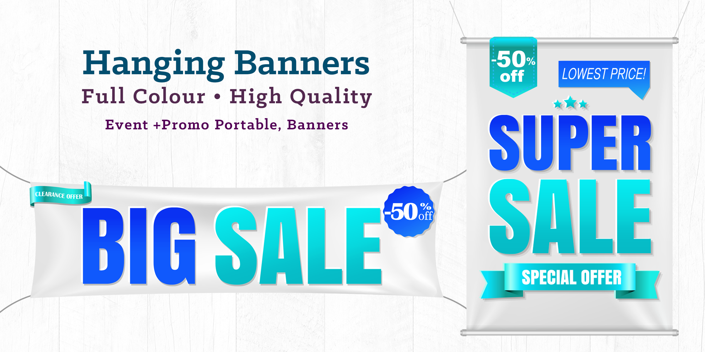SIGNAGE HANGING BANNERS