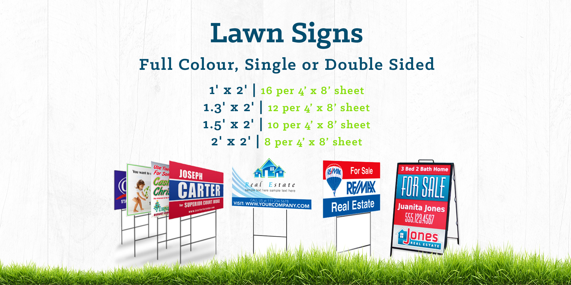 SIGNAGE LAWN SIGNS